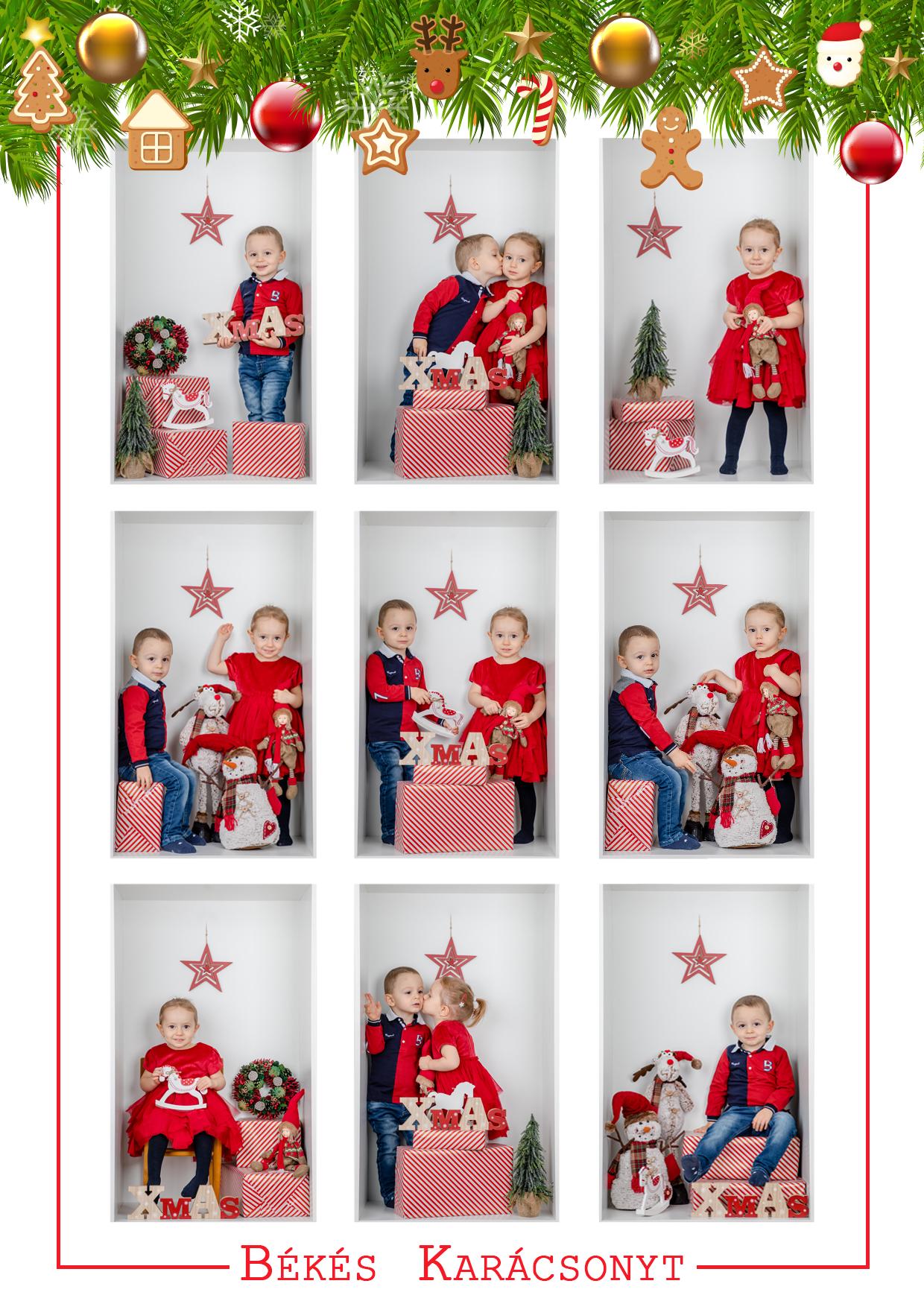 Karácsonyi fotózás galanta