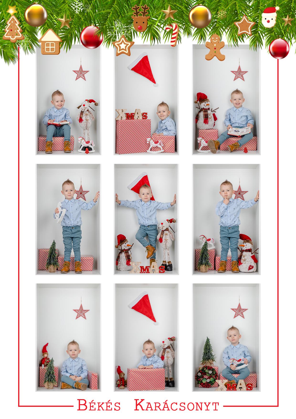 Karácsonyi kuckó fotózás