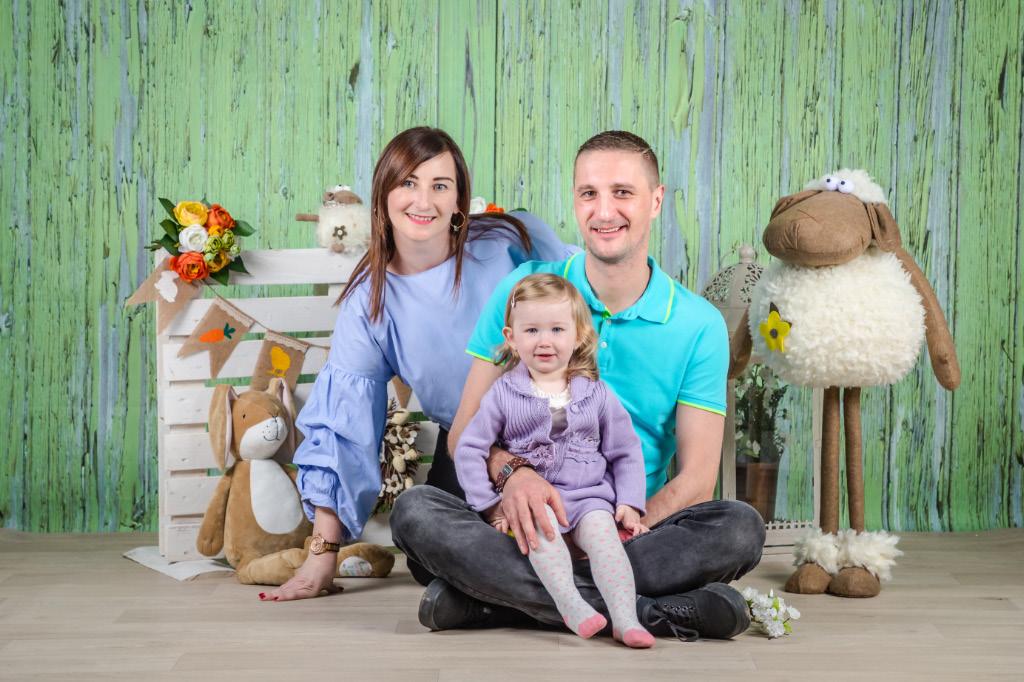 Veľkonočné fotenie rodín